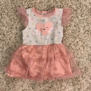 Limited Too sparkling onesie dress 6-9m